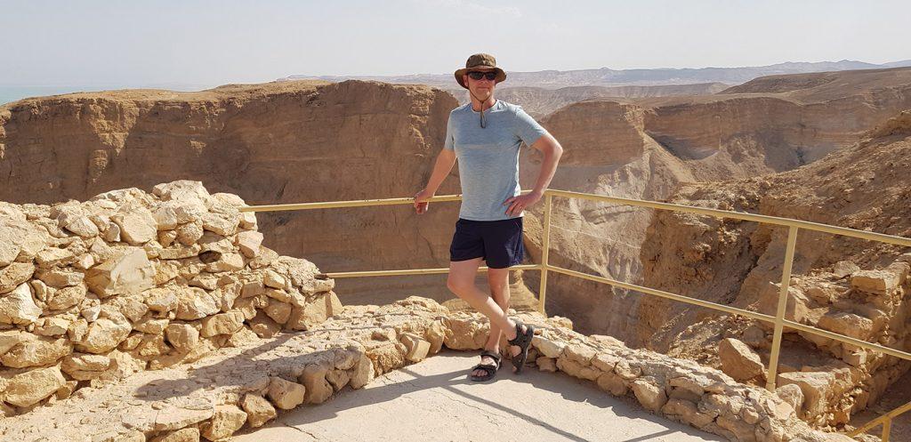 Sjoerd van der Wiel, uitzicht op de Masada